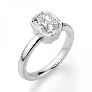 Кольцо из белого золота с бриллиантом радиант - Фото 2