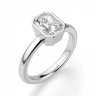 Кольцо из белого золота с бриллиантом радиант, Изображение 3