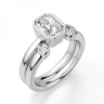 Кольцо из белого золота с бриллиантом радиант, Изображение 4