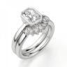 Кольцо из белого золота с бриллиантом радиант, Изображение 5