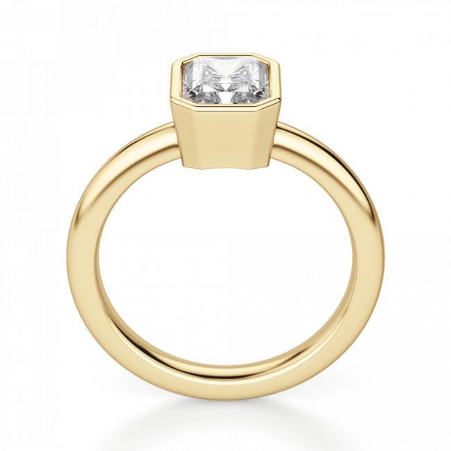 Кольцо с бриллиантом огранки радиант - Фото 1