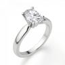 Кольцо из белого золота с бриллиантом овал, Изображение 3