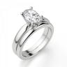 Кольцо из белого золота с бриллиантом овал, Изображение 4