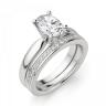 Кольцо из белого золота с бриллиантом овал, Изображение 5