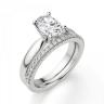 Кольцо из белого золота с бриллиантом овал, Изображение 6