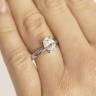 Кольцо из белого золота с бриллиантом овал, Изображение 7