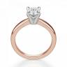 Кольцо с овальным бриллиантом из розового золота, Изображение 2