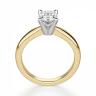 Кольцо из желтого золота с овальным бриллиантом, Изображение 2