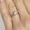 Кольцо с овальным бриллиантом из розового золота, Изображение 5