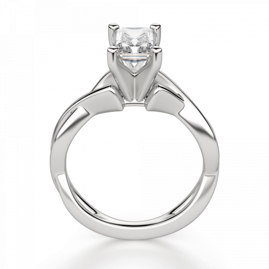 Кольцо из золота с бриллиантом радиант,  Больше Изображение 2