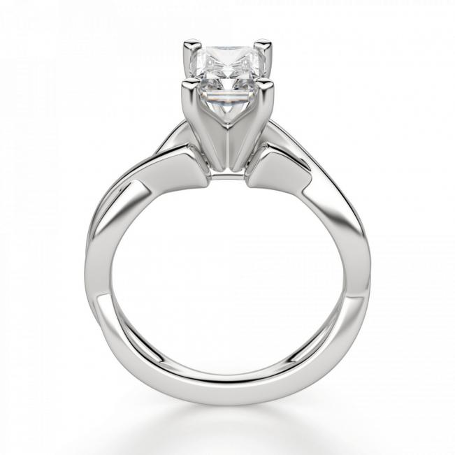 Кольцо из золота с бриллиантом радиант - Фото 1