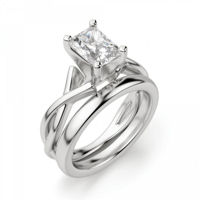 Кольцо из золота с бриллиантом радиант - Фото 3