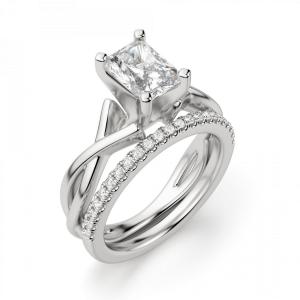Кольцо из золота с бриллиантом радиант