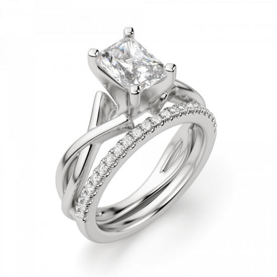 Кольцо из золота с бриллиантом радиант,  Больше Изображение 5