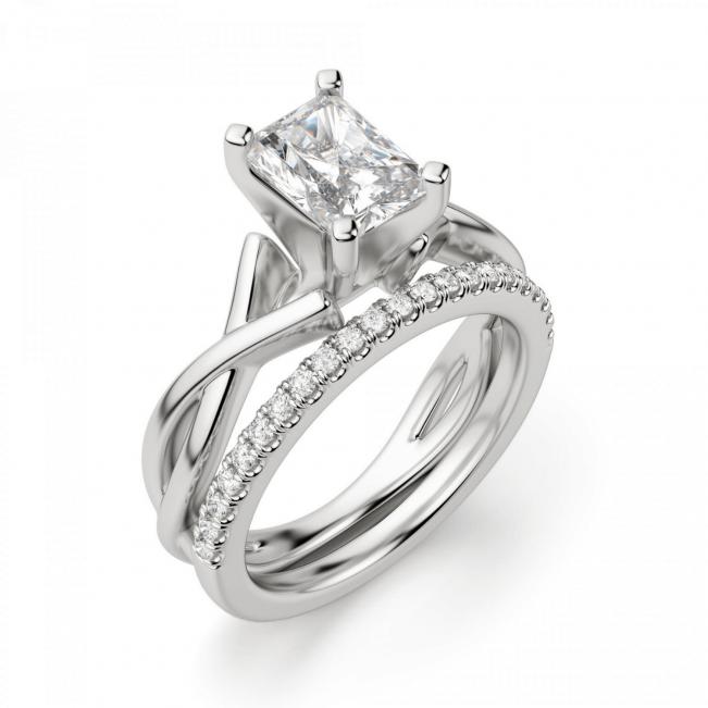 Кольцо из золота с бриллиантом радиант - Фото 4