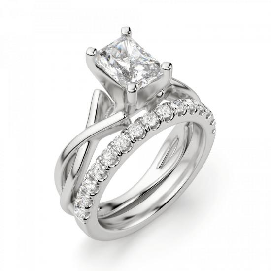 Кольцо из золота с бриллиантом радиант,  Больше Изображение 6