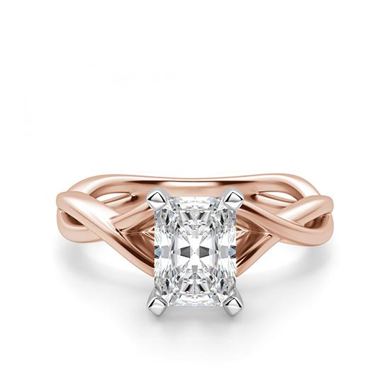 Кольцо с бриллиантом радиант, Больше Изображение 1