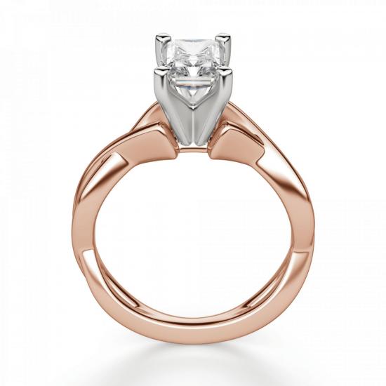Кольцо с бриллиантом радиант,  Больше Изображение 2