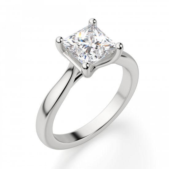 Кольцо с бриллиантом в форме квадрата,  Больше Изображение 4
