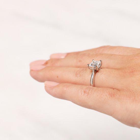 Кольцо с бриллиантом в форме квадрата,  Больше Изображение 6
