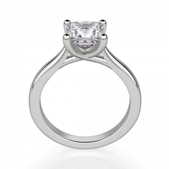 Кольцо с бриллиантом в форме квадрата,  Больше Изображение 3