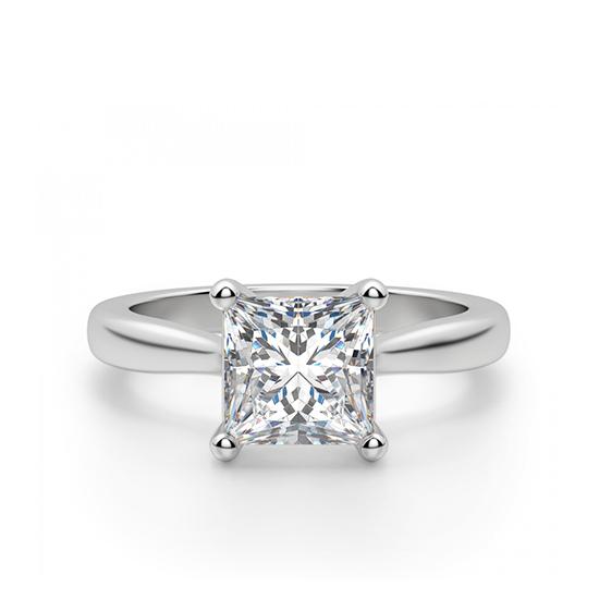 Кольцо с бриллиантом в форме квадрата, Больше Изображение 1