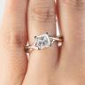 Кольцо розового золота с бриллиантом принцесса, Изображение 7
