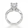 Кольцо из белого золота с бриллиантом принцесса, Изображение 2