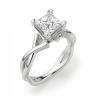 Кольцо из белого золота с бриллиантом принцесса, Изображение 3