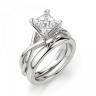 Кольцо из белого золота с бриллиантом принцесса, Изображение 4