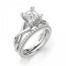 Кольцо из белого золота с бриллиантом принцесса, Изображение 5