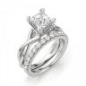 Кольцо из белого золота с бриллиантом принцесса, Изображение 6