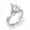 Кольцо из белого золота с бриллиантом маркиз, Изображение 3