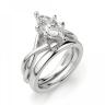 Кольцо из белого золота с бриллиантом маркиз, Изображение 4