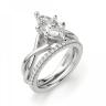 Кольцо из белого золота с бриллиантом маркиз, Изображение 5