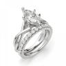 Кольцо из белого золота с бриллиантом маркиз, Изображение 6