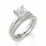 Кольцо канат с бриллиантом огранки Принцесса, Изображение 5
