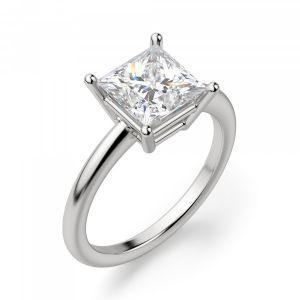 Кольцо ттонкое с бриллиантом огранки принцесса