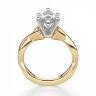 Кольцо из желтого золота с бриллиантом маркиз, Изображение 2