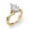 Кольцо из желтого золота с бриллиантом маркиз, Изображение 3