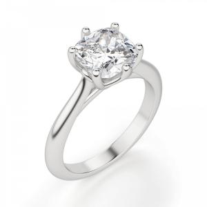 Кольцо из белого золота с бриллиантом кушон