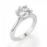 Кольцо из белого золота с бриллиантом кушон, Изображение 3