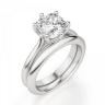 Кольцо из белого золота с бриллиантом кушон, Изображение 4