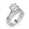 Кольцо из белого золота с бриллиантом кушон, Изображение 5