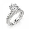 Кольцо из белого золота с бриллиантом кушон, Изображение 6