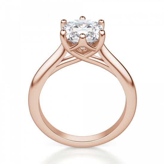 Кольцо с бриллиантом кушон в 6 крапанах,  Больше Изображение 2