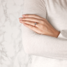 Кольцо из белого золота с бриллиантом кушон, Изображение 8