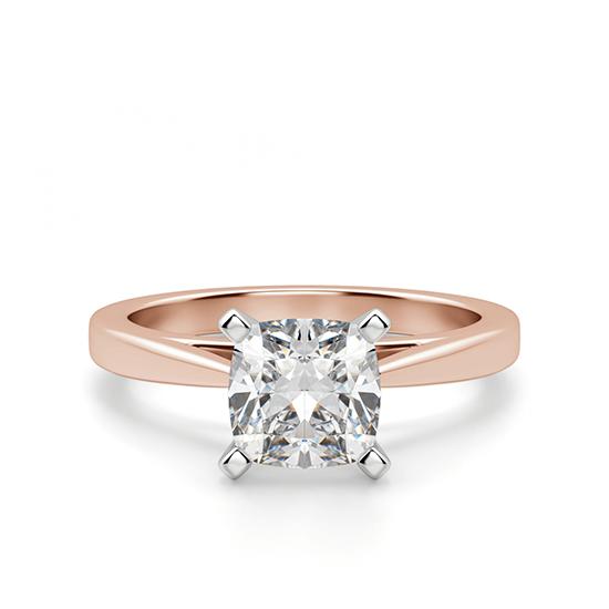 Кольцо с бриллиантом кушон, Больше Изображение 1