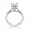 Кольцо с бриллиантом кушон из белого золота, Изображение 2
