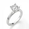 Кольцо с бриллиантом кушон из белого золота, Изображение 3